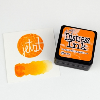 Distress Ink – Carved Pumpkin